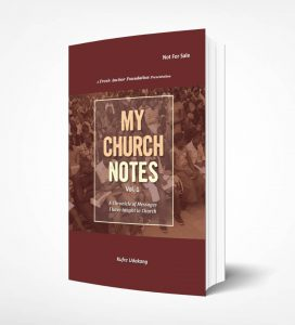 Book Cover: MY CHURCH NOTE